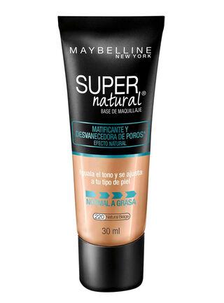 Base de Maquillaje Super Natural Matte 220 Natural Beige Maybelline 30 ml,,hi-res