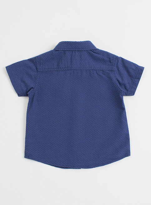 Camisa%20Ni%C3%B1o%20Algod%C3%B3n%20Texturizado%20Manga%20Corta%20Tribu%2CAzul%20Oscuro%2Chi-res