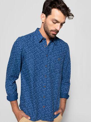 Camisa Sport Print Alaniz,Azul Oscuro,hi-res