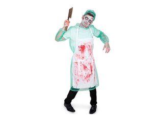 Disfraz Forense Zombie Hombre Carnaval,Único Color,hi-res