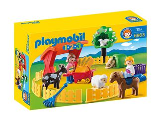 1,2,3 Recinto de Mascotas Playmobil,,hi-res