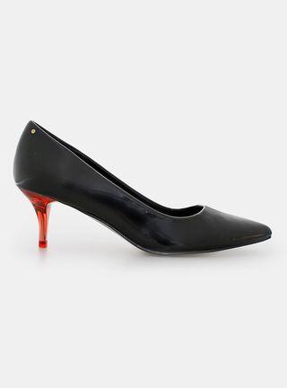 Zapato de Vestir Evoque Taco Brillante,Negro,hi-res