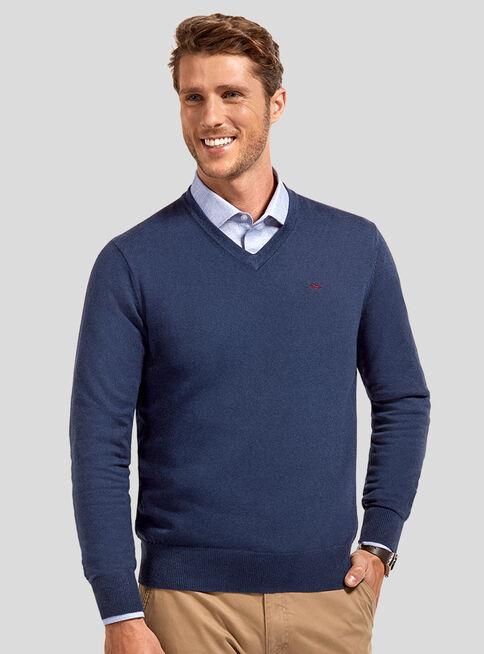 Sweater%20B%C3%A1sico%20Cuello%20V%20Ferouch%2CAzul%2Chi-res