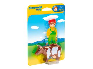 Granjero con Vaca 123 Playmobil,,hi-res