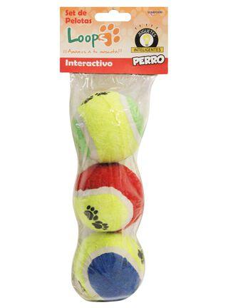 Juguete 3 Pelotas Perro Loops 10 x 10 x 10 cm,,hi-res