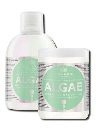 Set Shampoo y Mascara Algae con Algas y Aceite de Oliva Kallos,,hi-res