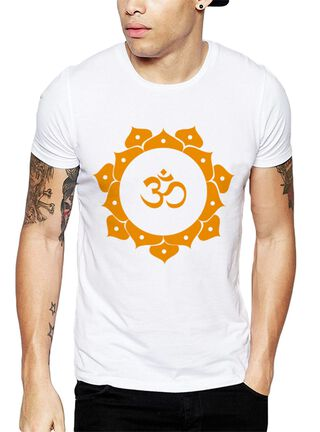 Polera Om Lotus Get Out,Blanco,hi-res