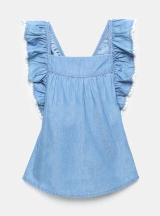 Blusa Tribu Vuelos Niña,Azul Eléctrico,hi-res