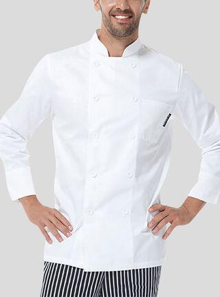Chaqueta Chef Checked Out Blanco,Blanco,hi-res