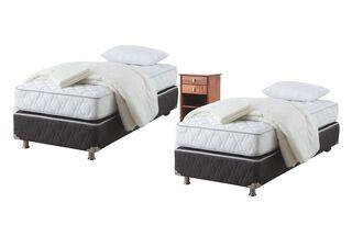 Dúplex Box Spring Ergo-T 1 Plaza + Textil + Velador Taylor Rosen,,hi-res