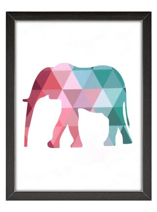 Cuadro Vidrio Elefante 60x80cm Home Republic,,hi-res