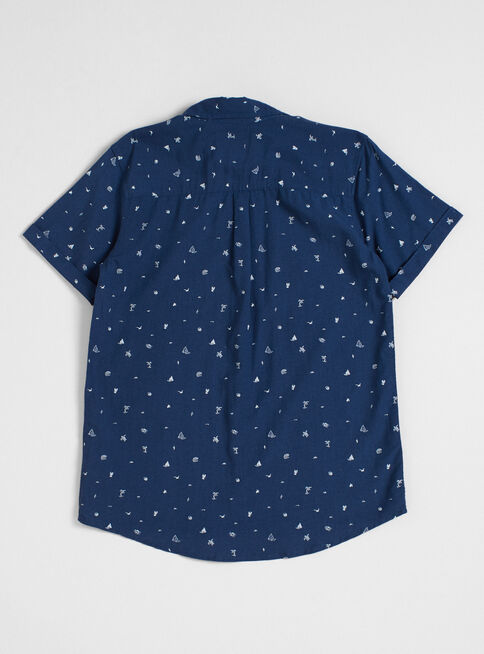 Camisa%20Mini%20Print%20Manga%20Corta%20Ni%C3%B1o%20Melt%2CAzul%20Oscuro%2Chi-res