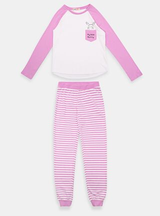 Pijama Larga Melt Conejito Niña,Lila,hi-res