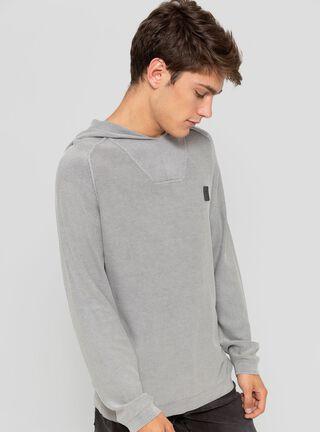 Sweater Raglan Capuchon Wash JJO,Grafito,hi-res