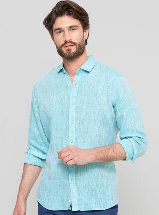 Camisa Lisa Slim Legacy,Verde Olivo,hi-res