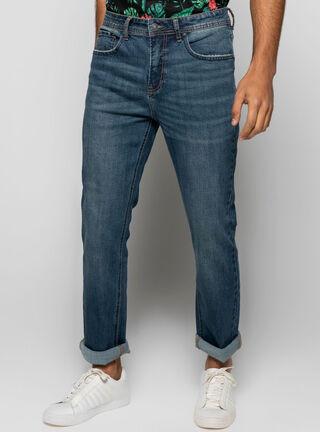 Jeans Franjas Focalizado Foster,Azul Oscuro,hi-res