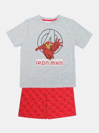 Pijama Avengers Iron Man Niño,Ceniza,hi-res