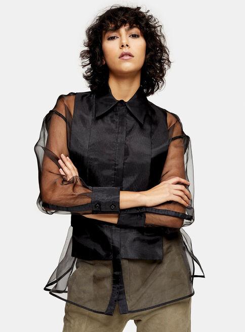 Camisa%20IDOL%20Black%20Organza%20Topshop%2C%C3%9Anico%20Color%2Chi-res