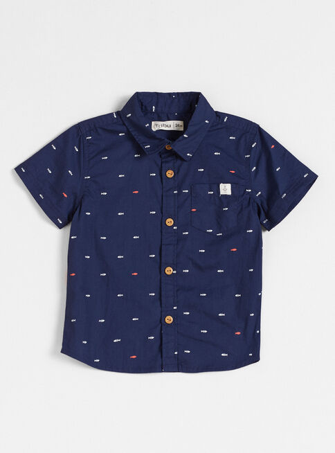 Camisa%20Ni%C3%B1o%20Algod%C3%B3n%20Manga%20Corta%20Full%20Estampado%20Tribu%2CAzul%20Oscuro%2Chi-res
