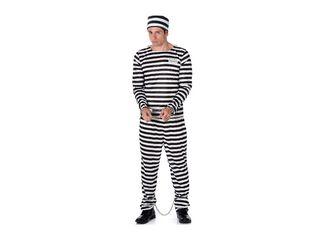 Disfraz Prisionero Hombre Carnaval,Único Color,hi-res