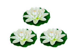 Pack 3 Flores de Loto Flotante Sohogar,,hi-res