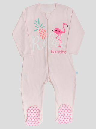 Pijama Bambino Flamingo Niña,Coral,hi-res