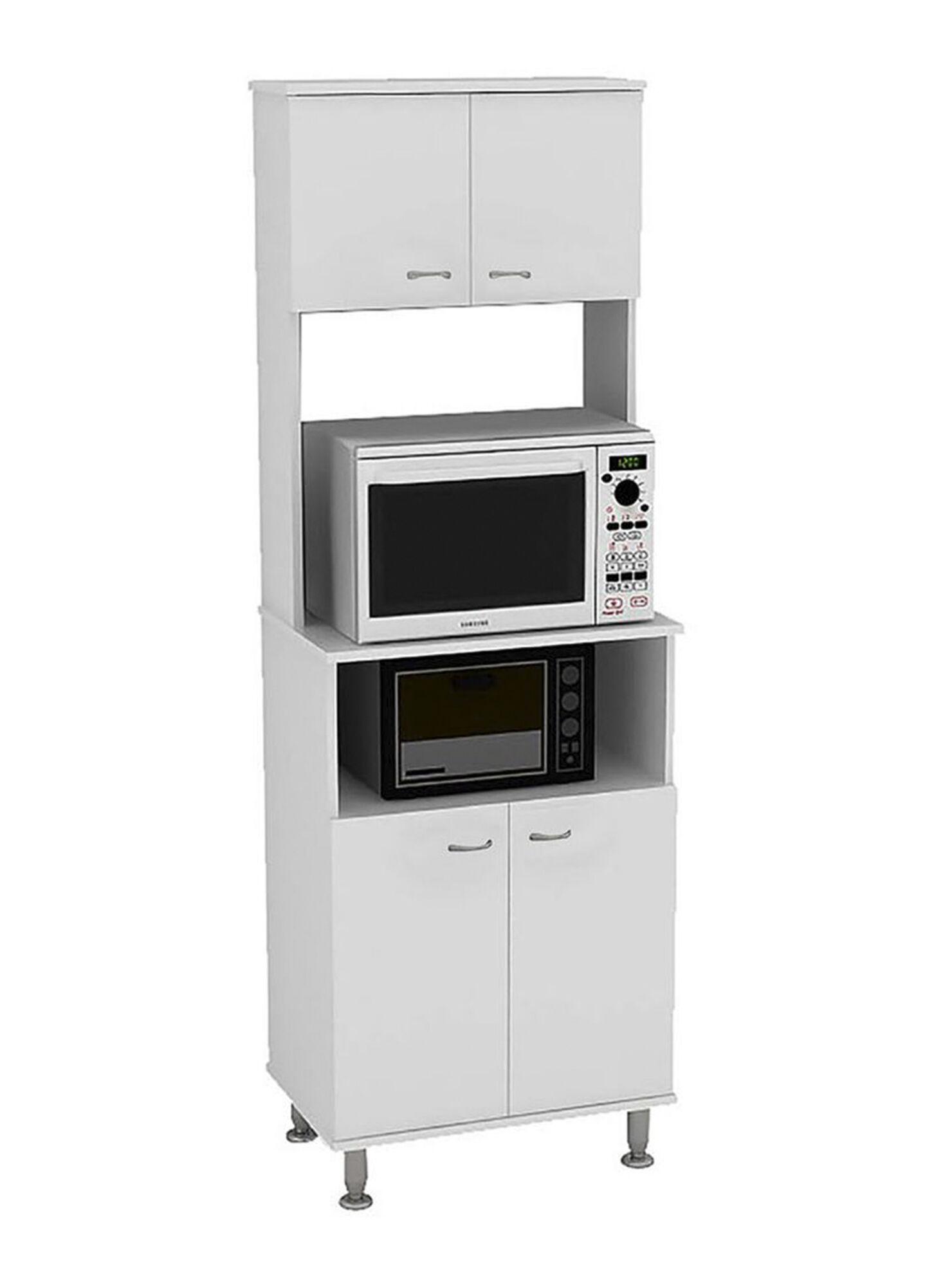 Mueble de Cocina Microondas Kitchen 4 Puertas 54x35x160 cm TuHome