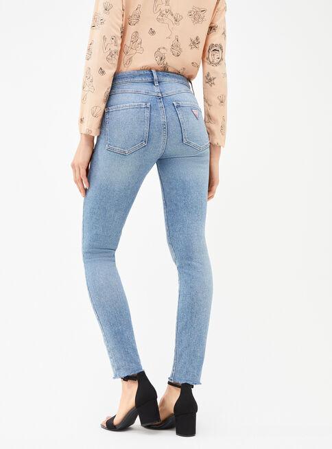 Jeans Tiro Guess Alto Clasico Placard Moda Sustentable Paris Cl