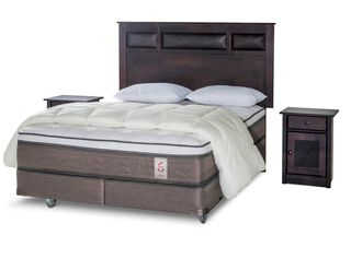Box Spring New Style 6 King + Set Bilbao + Almohadas + Plumón Rosen,,hi-res