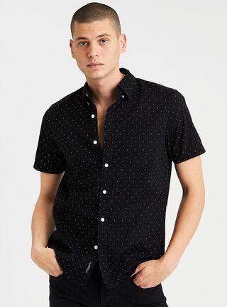 Camisa Print Puntos American Eagle,Negro,hi-res