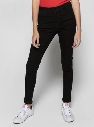 Jeans Casual Tiro Alto Opposite,Negro,hi-res