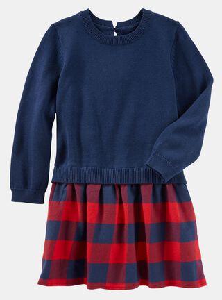 Vestido Tallas 5 a 10 Años OshKosh B'Gosh,Azul,hi-res
