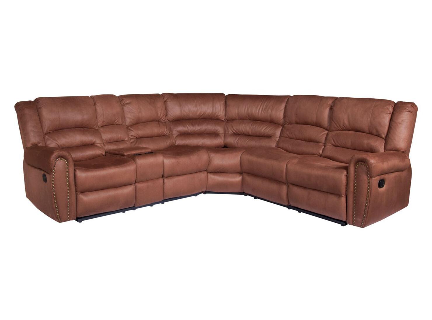 Sillones Reclinables Usados.Sofa Seccional Pu Reclinable Arizona 5 Cuerpos Vintage Attimo
