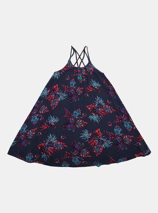 Vestido Aussie Print Niña,Azul Oscuro,hi-res