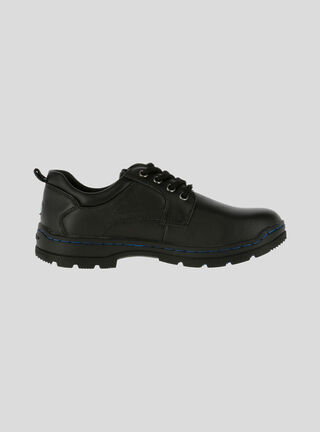 Zapato HUSH PUPPIES New I Work Escolar Niño,Negro,hi-res