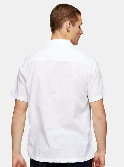 Camisa%20White%20Revere%20Shirt%20With%20Linen%20Topman%2C%C3%9Anico%20Color%2Chi-res