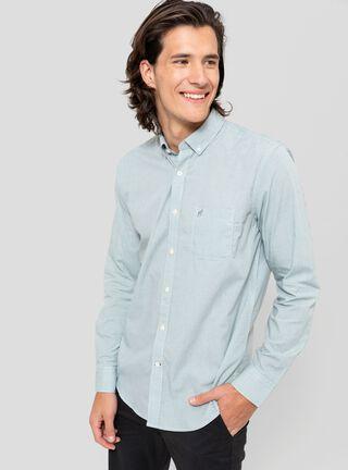 Camisa Cuello Americano Greenfield,Verde Olivo,hi-res