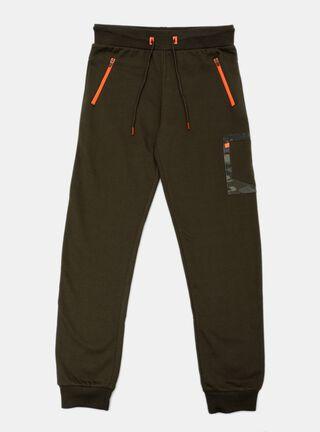 Pantalon Spalding Bolsillo Print Niño,Verde Militar,hi-res