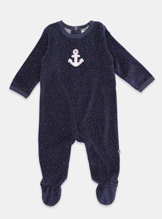 Pijama Opaline Bordado Niño,Azul Marino,hi-res