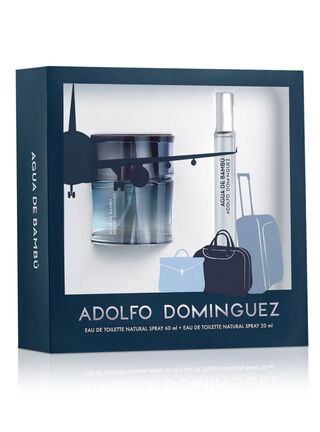 Set Perfume Adolfo Dominguez Agua De Bambu EDT 60 ml + Vial 20 ml,,hi-res