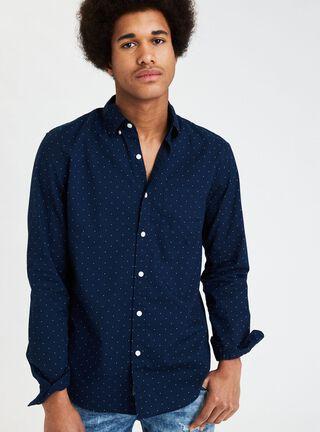Camisa Print American Eagle,Azul Marino,hi-res