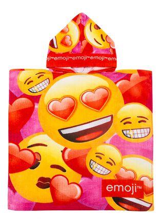 Toalla de Playa Capucha Emoji Girl 60 x 60 cm,,hi-res