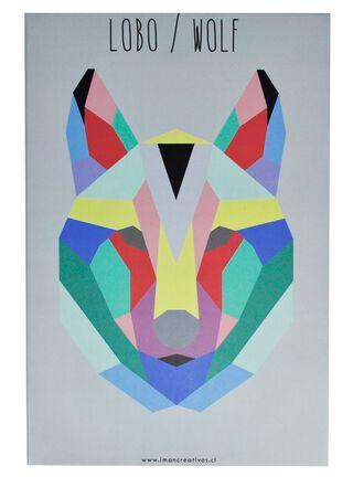 Canvas Geo Animal Lobo 20 x 30 cm Iman Decor,,hi-res