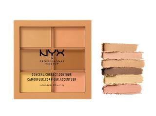 Corrector Rostro Concealer, Correct, Contour Palette Medium NYX Professional Makeup,,hi-res