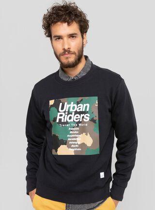 Polerón Urban Riders Camuflaje Lee,Negro,hi-res