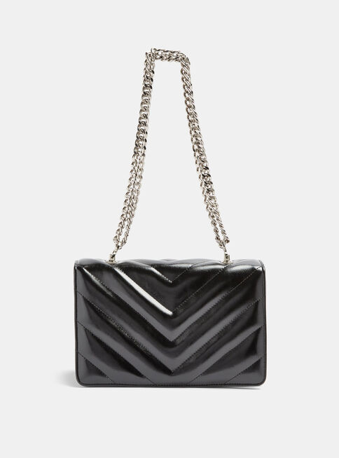 Cartera%20Negra%20Chevron%20Quilted%20Cross%20Body%20Topshop%2C%C3%9Anico%20Color%2Chi-res