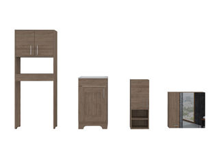 Muebles de Baño: Lavamanos + Muro + Baño + Botiquín TuHome,Camel,hi-res