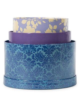 Set 3 Cajas Redondas Azules American Crafts,,hi-res