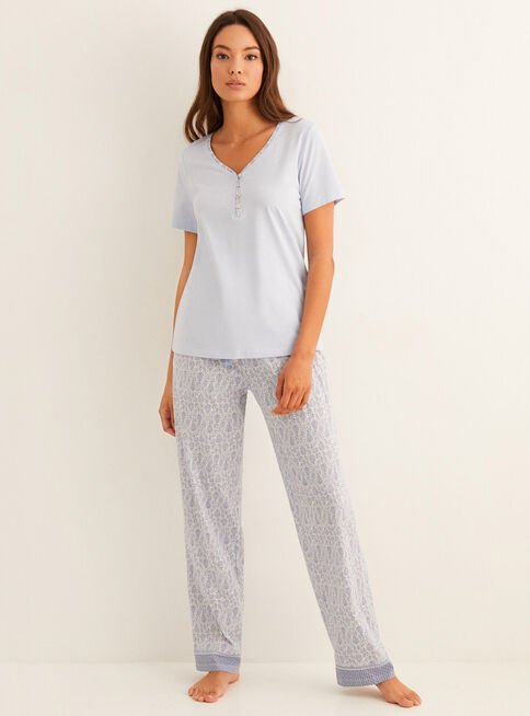Pijama%20Daily%20Soft%20Blue%20Cenefa%20Algod%C3%B3n%20Women'Secret%2CCeleste%2Chi-res