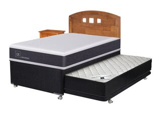 Diván Cama New Ortopedic Black + Set Muebles Gales Cic,,hi-res